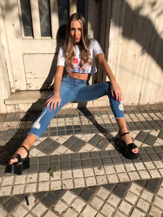 Scottkaen jeans chupin con top verano 2021