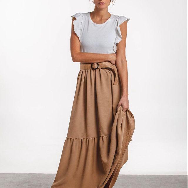 falda estilo paisana Wings Indumentaria para mujer verano 2021