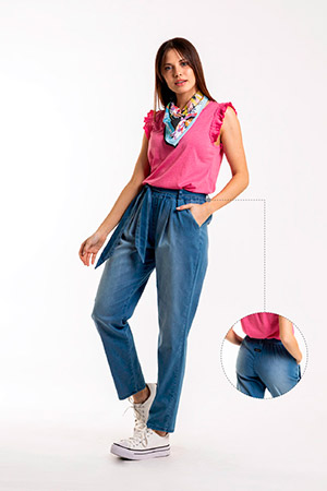 jeans mom Okoche verano 2021