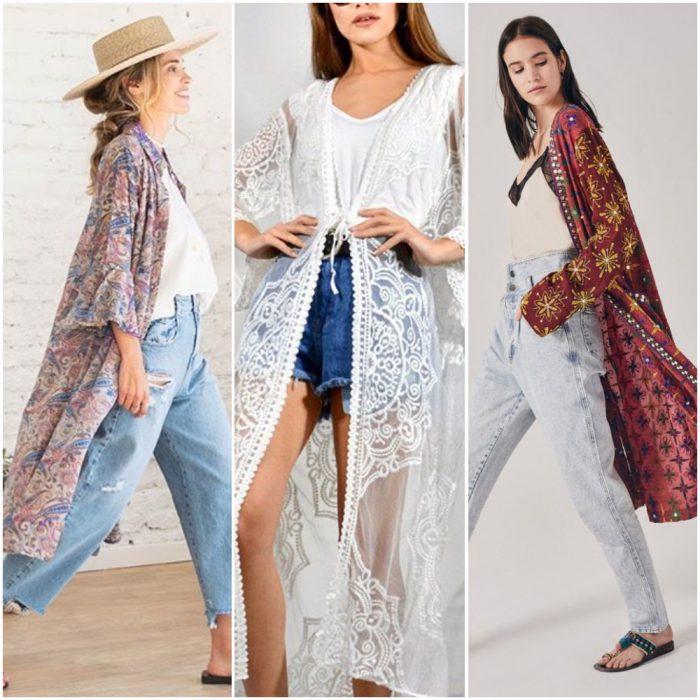 kimonos de moda para mujer verano 2021
