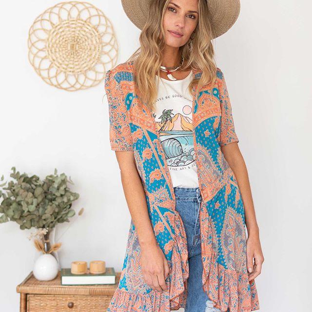 kimonos estampados santa Bohemia verano 2021