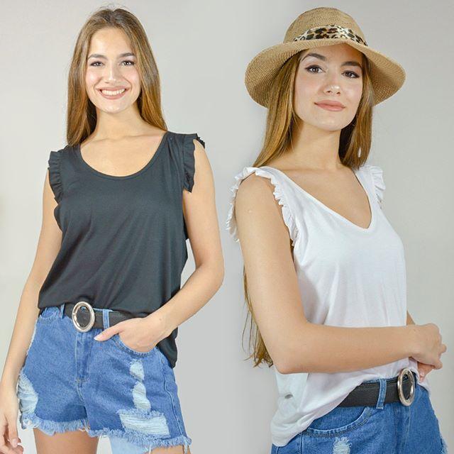 musculosa y short jeans vestido casual bordado en hilo arizona verano 2021
