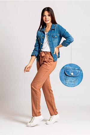 pantalon casual con lazo Okoche verano 2021
