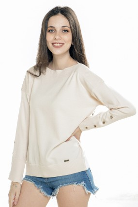 sweater hilo juvenil punos con botones Nuss tejidos verano 2021