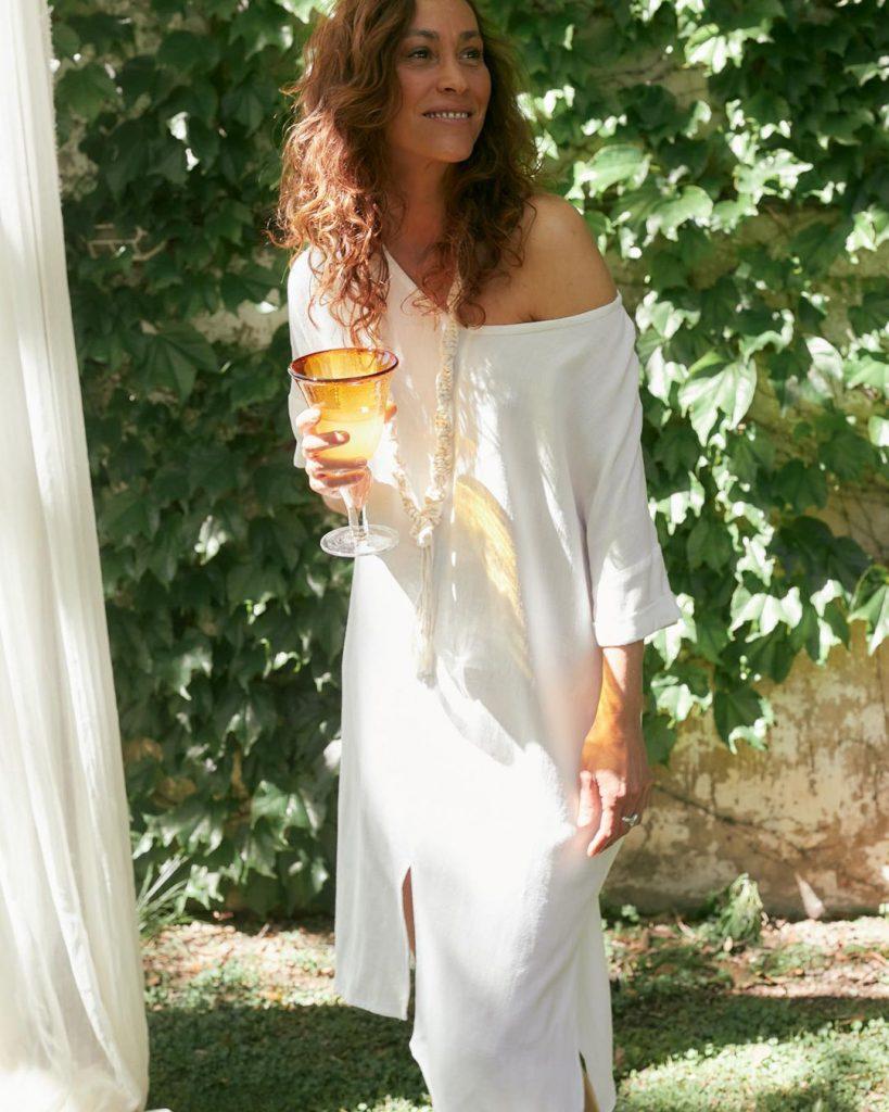 tunica blanca verano 2021 Marcela Pagella