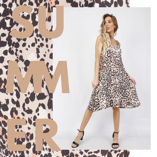 vestido animal print casual Anna Fey verano 2021