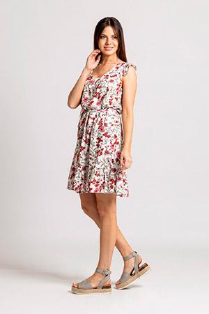vestido corto fibrana Okoche verano 2021