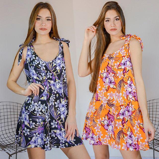 vestido corto fibrana vestido casual bordado en hilo arizona verano 2021