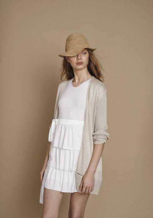 vestido corto hilo Agostina Bianchi verano 2021