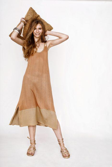 vestido de hilo Agostina Bianchi verano 2021