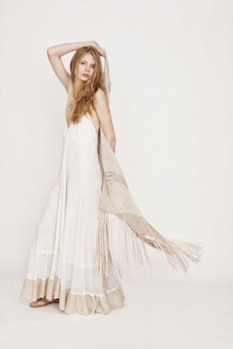 vestido largo de hilo Agostina Bianchi verano 2021