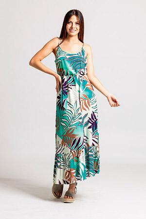 vestido largo informal Okoche verano 2021