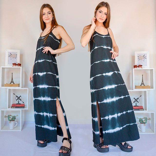 vestido largo jersey vestido casual bordado en hilo arizona verano 2021
