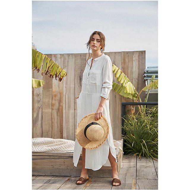 vestido tunica lino verano 2021 Marcela Pagella