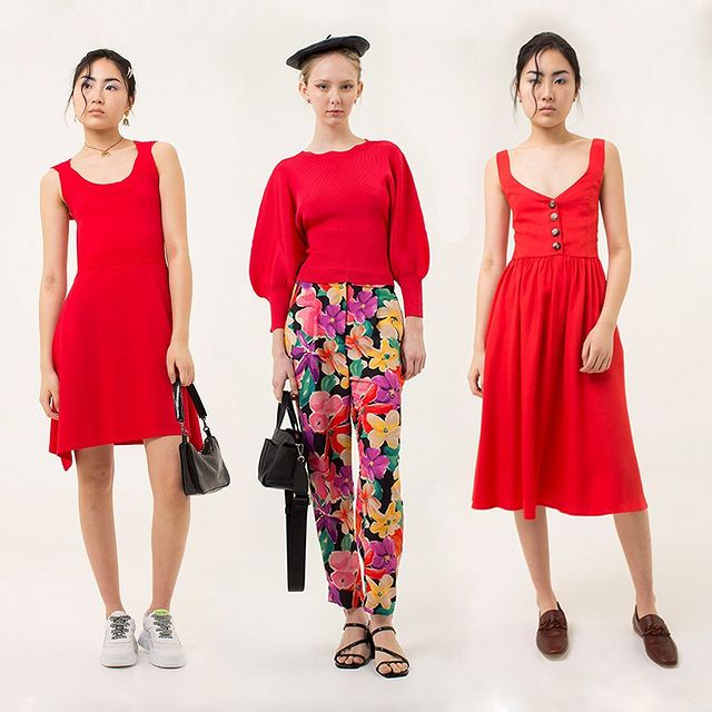 outfit en color rojo juvenil Las pepas verano 2021
