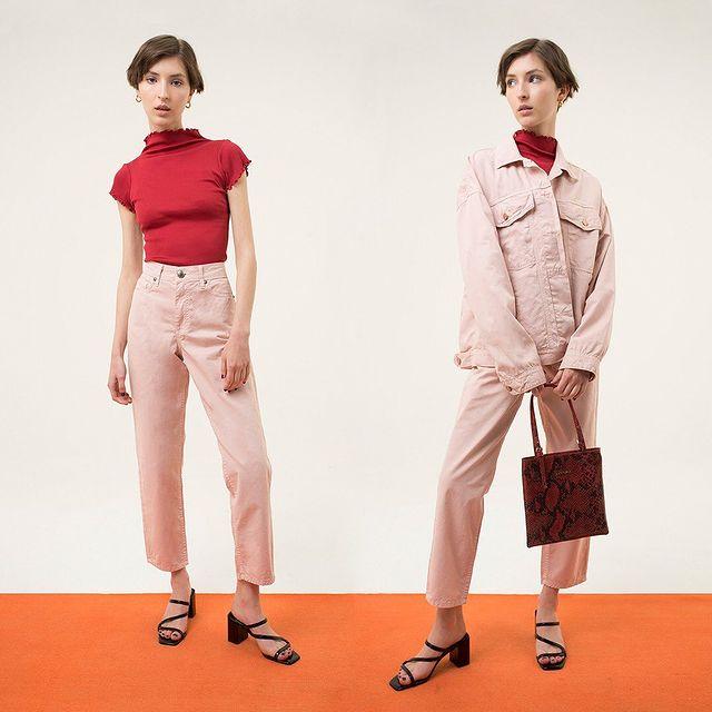 pantalon y campera gabardina colores Las pepas verano 2021