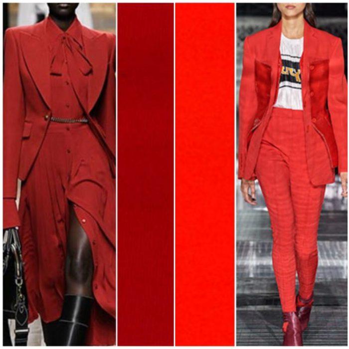 Colores de moda invierno 2021 Tonos rojos