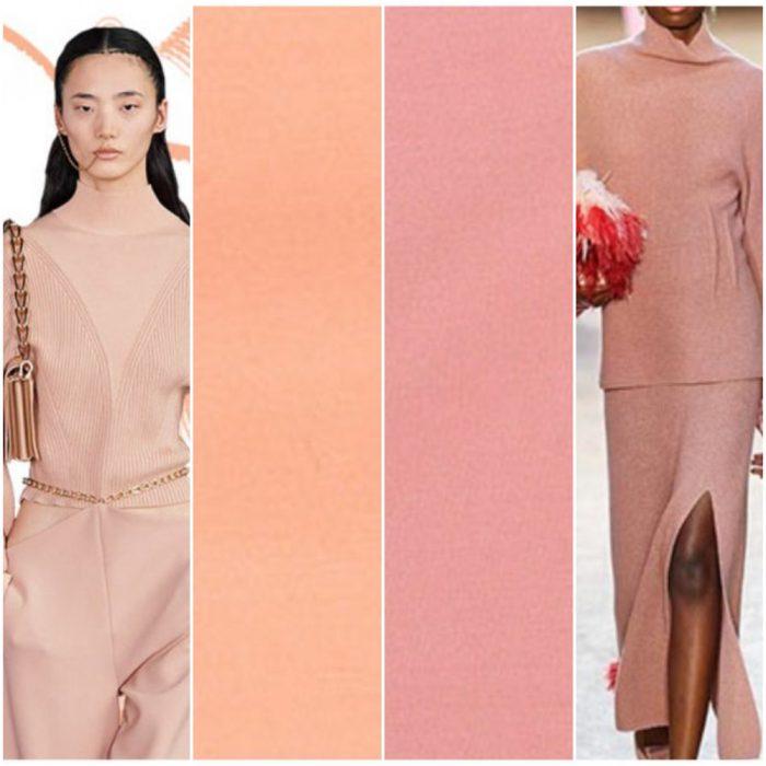 Colores de moda invierno 2021 Tonos rosas