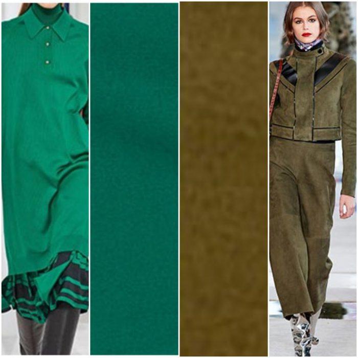 Colores de moda invierno 2021 Tonos verdes