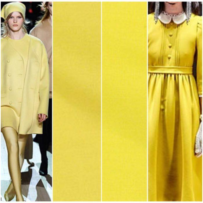 Colores de moda invierno 2021 amarillo