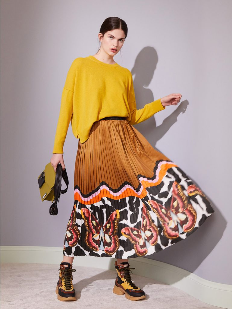 falda plisada Jazmin Chebar invierno 2021