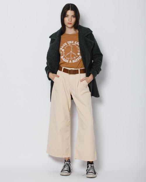 pantalones anchos de gabardina Wanama invierno 2021