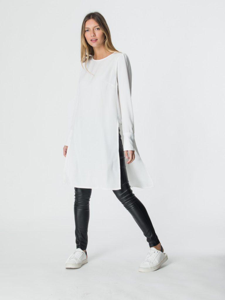 blusa larga con pantalon engomado brasco invierno 2021