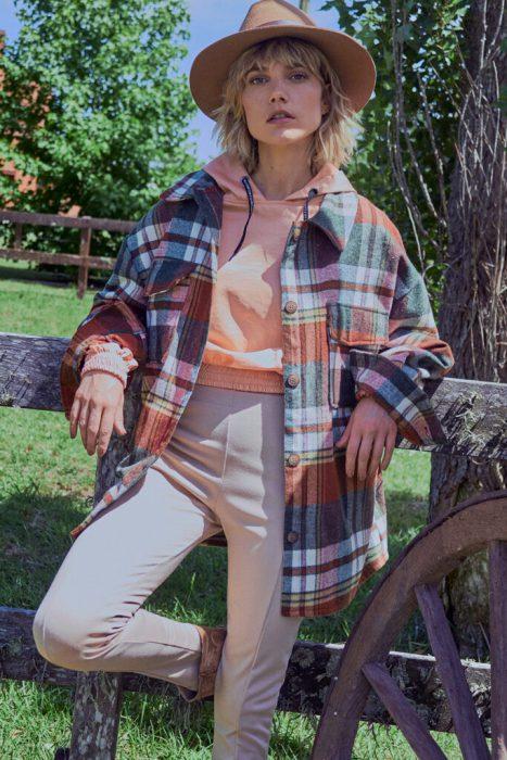 camisa a cuadros mujer nucleo mujer invierno 2021