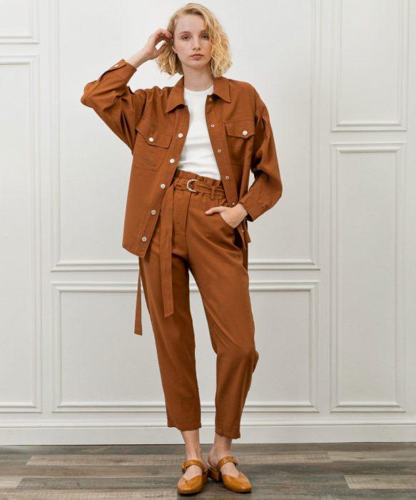 camisa oversize como abrigo invierno 2021 Kosiuko