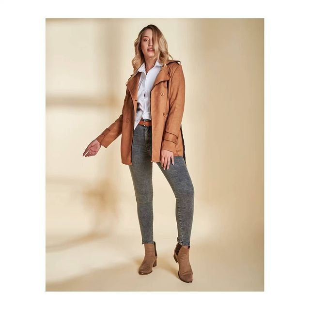 chaqueta engomada vertu jeans invierno 2021