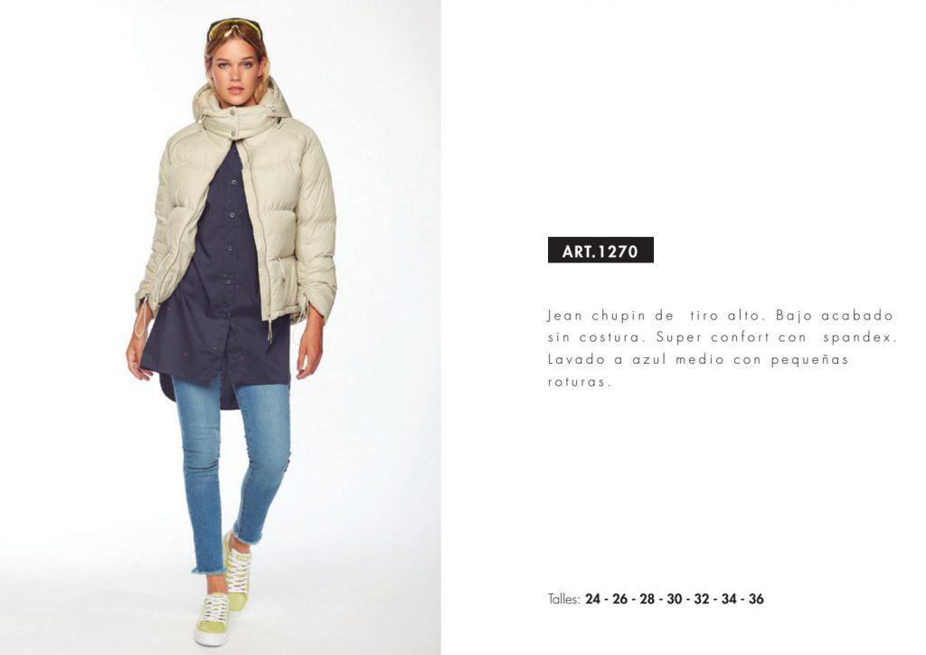 jeans chupin camisa larga campera pluma utzzia invierno 2021