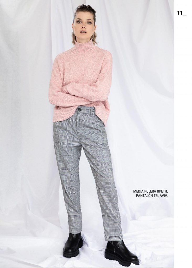 pantalon a cuadros con polera asterisco invierno 2021