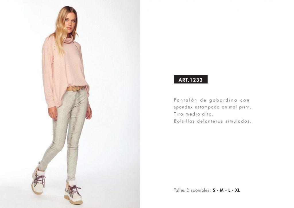 pantalon con estampa animal print utzzia invierno 2021