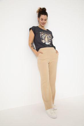 pantalon gabardina y remera basica Yagmour invierno 2021 Senoras