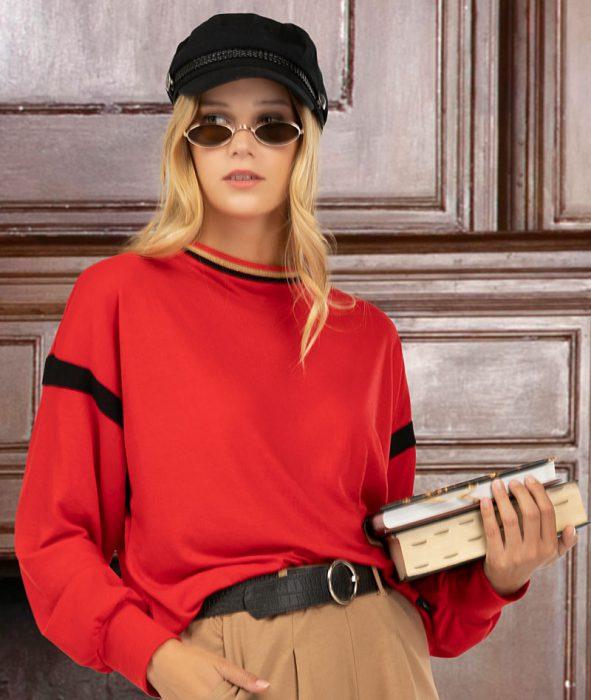 pantalon plisado y buzo de algodon vitnik invierno 2021