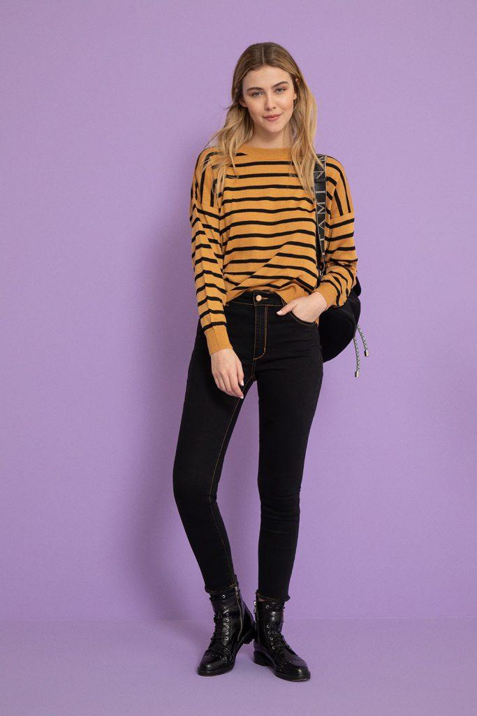 sweater a rayas mujer vitamina invierno 2021