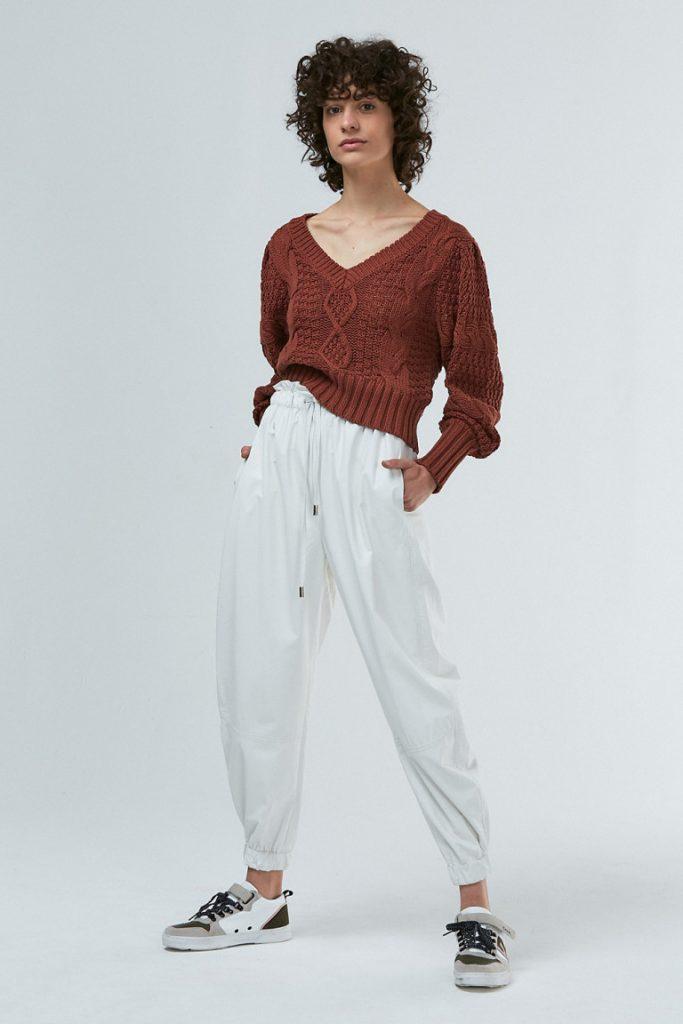 sweater escote en v mujer invierno 2021 Maria Cher