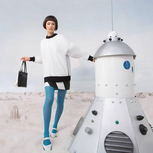 vestido algodon frisa con medias de colores las pepas invierno 2021