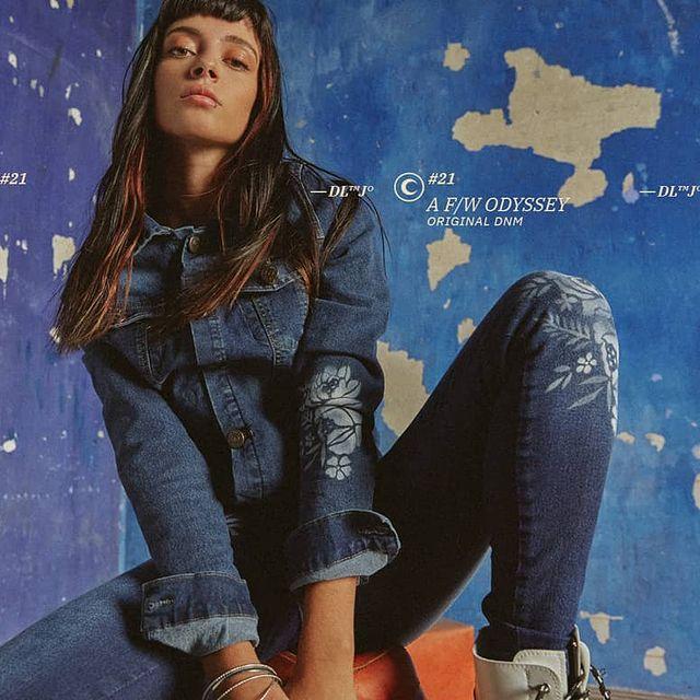 campera de jeans bordada invierno 2021 Diosa Luna