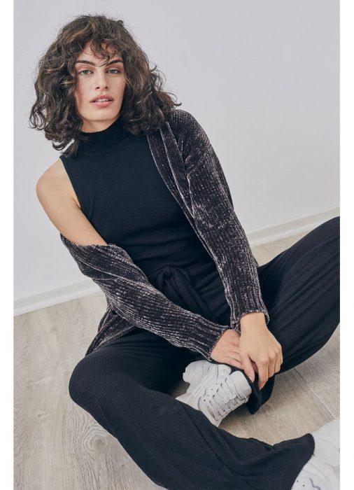 cardigan lana con brillo invierno 2021 Cuesta Blanca
