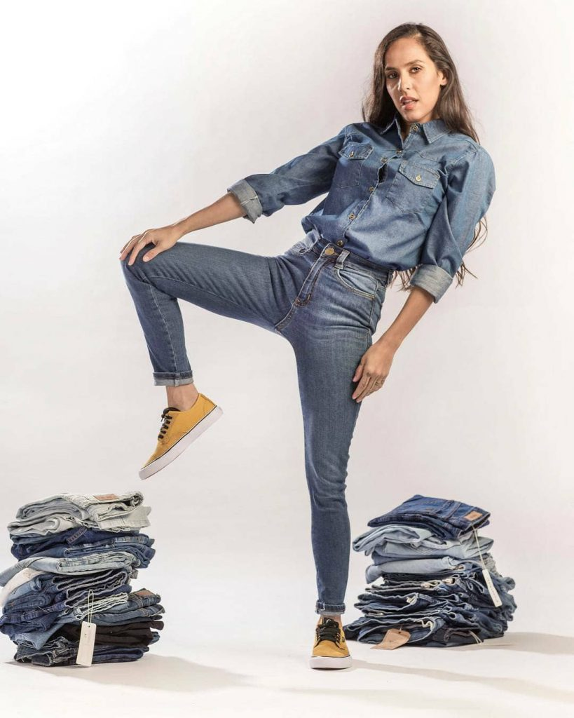 outfit total denim for me jeans invierno 2021