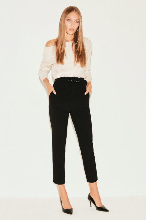 pantalon de vestir negro invierno 2021 markova
