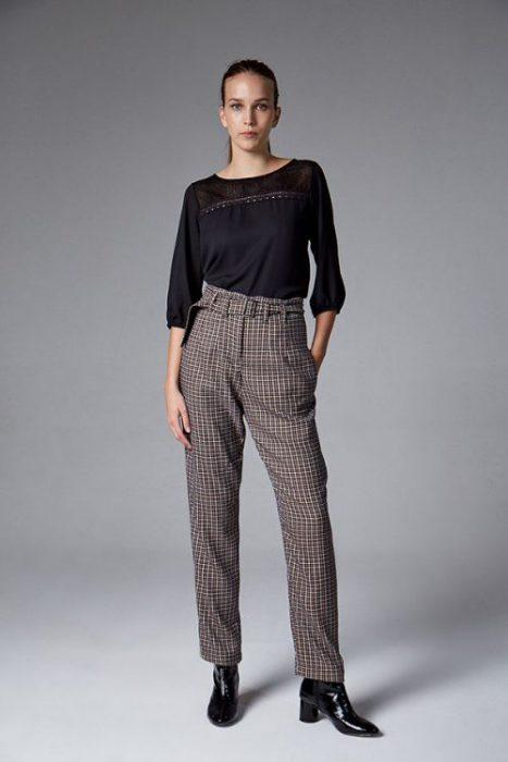 pantalon de vestir tiro alto etam invierno 2021