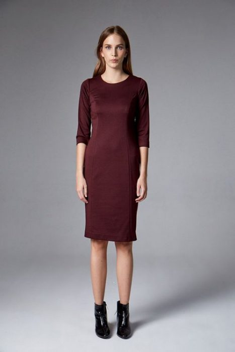 vestido formal corto etam invierno 2021