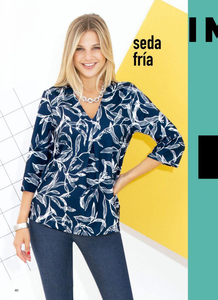 blusa estampada con mangas juana bonita invierno 2021