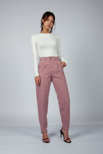 jeans rosa viejo invierno 2021 Vov Jeans