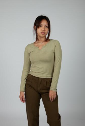 pantalon verde olivo invierno 2021 Vov Jeans