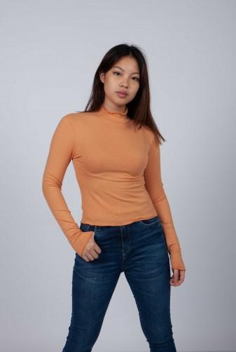 polera naranja invierno 2021 Vov Jeans