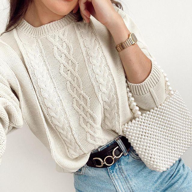 sweater crudo mujer tejido invierno 2021 Proximo