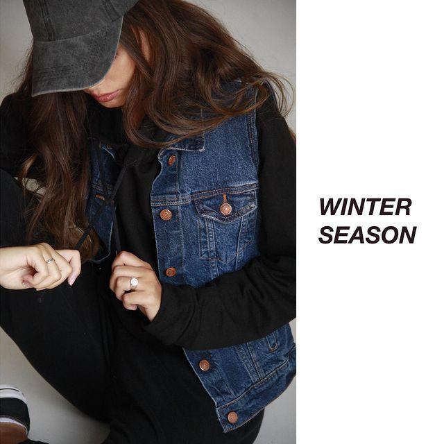 BUZO CON CHALECO DENIM Riffle Jeans invierno 2021